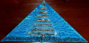 Wanddeko STERNENBAUM Weihnachtsbaum Weihnachtsdeko Wanddeko Christbaum Künstlerbaum mit LED-Beleuchtung  - Handarbeit kaufen