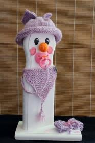 Schneemann Weihnachtsdeko BABY-GIRL SNOWMAN Figur Herbstdeko Künstlerfigur Winterdeko Geschenk