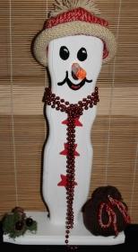 Schneemann Weihnachtsdeko KLAUSI SNOWMAN Figur Herbstdeko Künstlerfigur Winterdeko Geschenk