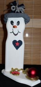 Schneemann Weihnachtsdeko HERBERT SNOWMAN Figur Herbstdeko Künstlerfigur Winterdeko Geschenk