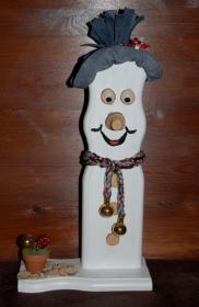 Schneemann Weihnachtsdeko JOEY SNOWMAN Figur Herbstdeko Künstlerfigur Winterdeko Geschenk