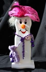 Schneemann Weihnachtsdeko LADY SNOWMAN Figur Herbstdeko Künstlerfigur Winterdeko Geschenk
