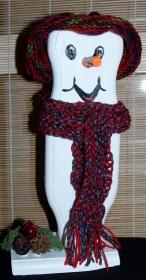 Schneemann Weihnachtsdeko ULI SNOWMAN Figur Herbstdeko Künstlerfigur Winterdeko Geschenk