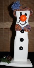 Schneemann Weihnachtsdeko TOMMY SNOWMAN Figur Herbstdeko Künstlerfigur Winterdeko Geschenk   - Handarbeit kaufen