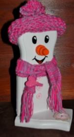 Schneemann Weihnachtsdeko LITTLE SNOWEY Figur Herbstdeko Künstlerfigur Winterdeko Geschenk