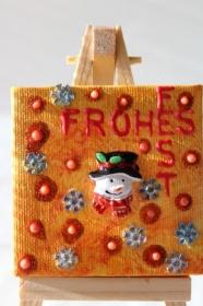 Adventskalenderfüllung Weihnachtsgeschenk Tischdeko Minibild Collage Deko Weihnachtsdeko  - Handarbeit kaufen