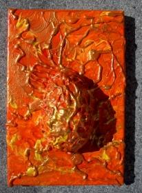 Ostergeschenk OSTERFEUER Wandskulptur abstraktes Dekoei Künstler-Ei Dekofigur abstrakte Kunst   - Handarbeit kaufen