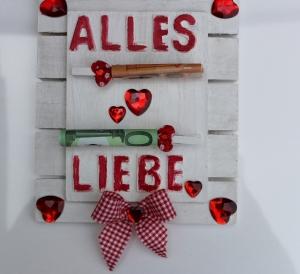 Geldgeschenk ALLES LIEBE  Geschenk Vatertag  Geburtstag Ostern Weihnachten Hochzeit Valentinstag Muttertag Shabby Stil - Handarbeit kaufen