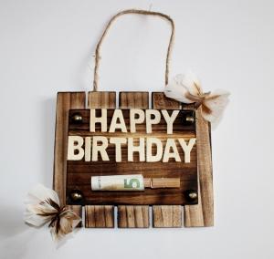 Geldgeschenk HAPPY BIRTHDAY  Geburtstag für Männer und Frauen