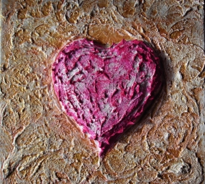 Acrylbild SHABBY HEART Geschenk Valentinstag Muttertag  Malerei Kunst Unikat Keilrahmen Herzbild  - Handarbeit kaufen