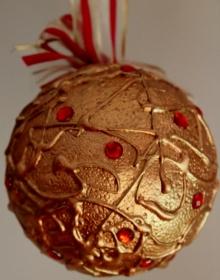 Dekokugel GOLDZAUBER Acrylmalerei Deko Weihnachtsgeschenk Weihnachtskugel Malerei Weihnachtsdeko  - Handarbeit kaufen