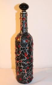 Dekoflasche Geldgeschenk RUBINROT Upcycling Flasche Geschenk Frauengeschenk zu Geburtstag Valentinstag Muttertag  - Handarbeit kaufen