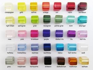100 Polariswürfel 8mm glänzend, Farbmischung nach Wunsch