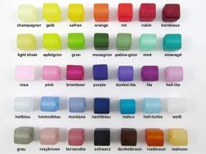10 Polariswürfel 6mm matt, Farbmischung nach Wunsch - Handarbeit kaufen