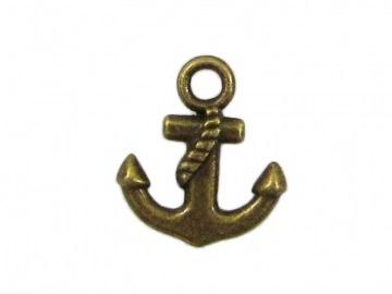 30 Anker Anhänger / Charm, Farbe bronze - Handarbeit kaufen