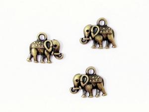 30 Elefant Anhänger / Charm, Farbe bronze - Handarbeit kaufen