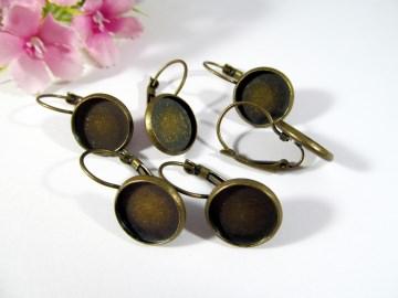 20 Brisuren Rohlinge für 12mm Cabochons, Farbe bronze - Handarbeit kaufen