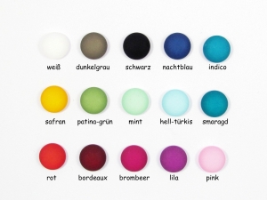 50 Polaris Cabochons 12mm matt, Wunsch-Mix