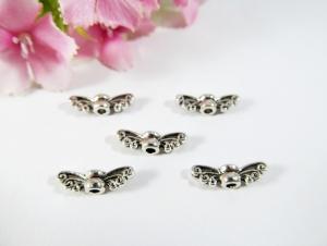 50 Mini Flügel 'Schmetterling', Farbe silber antik - Handarbeit kaufen
