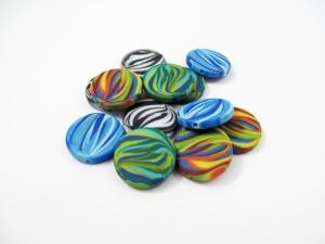 4 Zebra Polaris Coins /Scheiben matt, Wunsch-Mix - Handarbeit kaufen