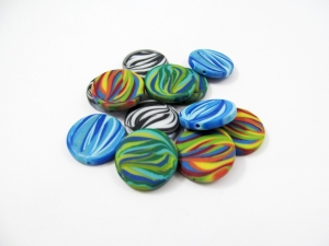 10 Zebra Polaris Coins /Scheiben matt, Wunsch-Mix - Handarbeit kaufen