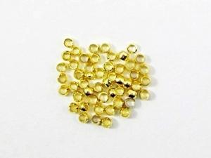 200 Quetschperlen / Schmelzperlen 2mm, Farbe gold - Handarbeit kaufen