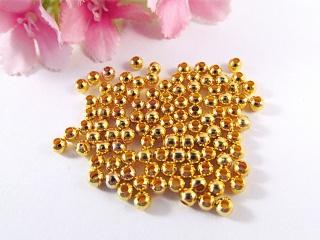 100 Metallperlen Spacer 4mm, Farbe gold - Handarbeit kaufen