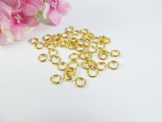 100 Binderinge / Biegeringe 5mm, Farbe gold