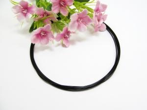 (1,10€/m) 3 Meter Premium Schmuckdraht / Stahlseil 0,7mm, Nylon ummantelt, schwarz - Handarbeit kaufen