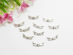 30 Mini Flügel 'Libelle', Farbe silber antik - Handarbeit kaufen