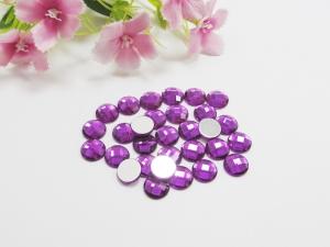 30 Cabochons aus Acryl, 8mm, facettiert, Farbe lila - Handarbeit kaufen