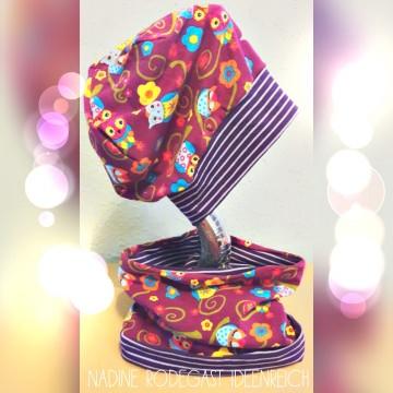 Beanie mit Loop Set Schal Mütze Kindermütze Kinderbeanie