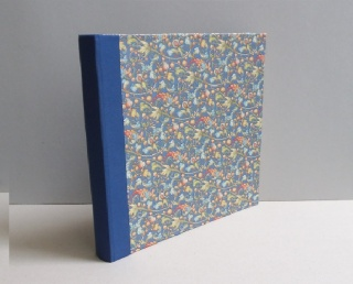 Großes Fotoalbum Ramis blau mit 60 Seiten Fotokarton in hell