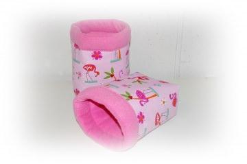 Kuschelsack/ Kuschelhöhle Rosa Flamingo für Meerschweinchen