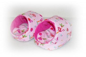 Kuschelhütte ♥ Rosa Flamingo ♥ für Meerschweinchen