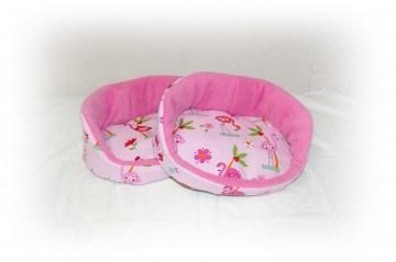 Kuschelkörbchen/ Kuschelbett ♥ Rosa Flamingo ♥ für Meerschweinchen