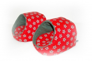 Kuschelhütte ♥ Weihnachtsstern ♥ für Meerschweinchen
