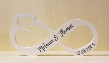 Tischdekoration Hochzeit - Unendlichkeitszeichen für den Brautpaartisch oder Geschenketisch
