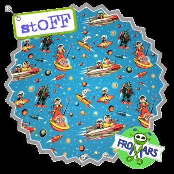 Sommersweat - Fiona Hewitt - Space Kids - Blau