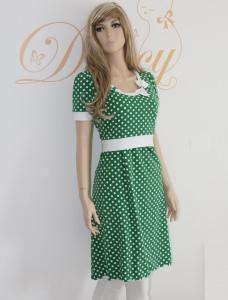 ♥ Stillkleid Flora grün-weiß Punkte ♥