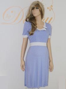 ♥ Stillkleid Flora lavendel-weiß Punkte ♥