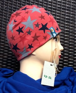 Coole Wendebeanie mit Sternen und Kraken für kleine Mädchen, Kopfumfang ca. 50 cm