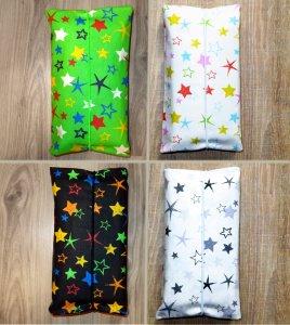 Wickeltasche FARBWAHL! Windeltasche Babygeschenk Baby Unterwegs Windeletui mit Sternen in grün, weiß, schwarz oder schwarz/weiß