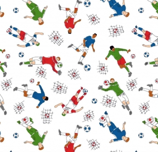 50cm Single Jersey Stoff Meterware Kinderstoff / Bekleidungsstoff Hergestellt nach ÖkoTex100 Fussball Soccer  - Handarbeit kaufen