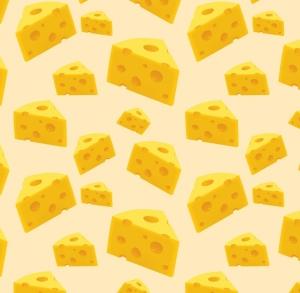 50cm Baumwollstoff 100% Baumwolle Meterware Kinderstoff Hergestellt nach ÖkoTex100 Käse Käseecken