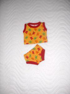Puppenkleider Puppen Unterwäsche Hemd und Slip 32-33 cm - Handarbeit kaufen