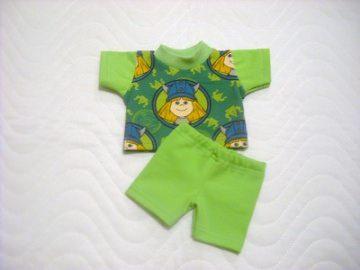 Puppenkleider Set Shirt & kurze Hose ca. 36-38 cm