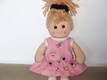 Puppenkleidung Puppen Sommerkleid Baumwollfeincord 36-38cm