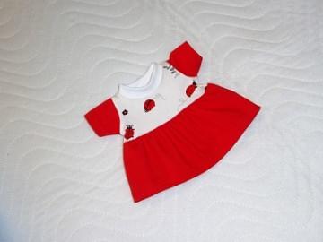 Puppenkleidung Puppen Jersey Sommerkleid ca. 26-27cm   - Handarbeit kaufen