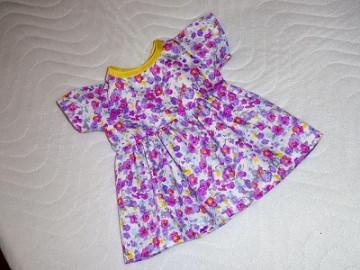 Puppenkleid Sommerkleid Blumenkleid Baumwolle ca. 43 cm